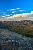 Vista drammatica sopra le colline in Marin Coast, California Fotografia Stock Libera da Diritti