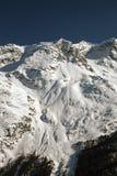 Vista e colore stupefacenti di una montagna nevosa nelle alpi Svizzera Immagini Stock