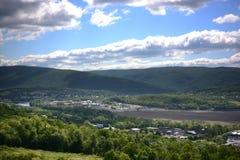 Vista e strade della Pensilvania fotografia stock libera da diritti