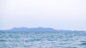 Vista ed isola del mare Fotografia Stock Libera da Diritti