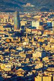 Vista elevado da torre de Agbar fotos de stock royalty free