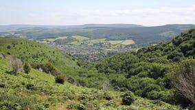 Vista elevado do Minehead Somerset England Reino Unido no verão filme