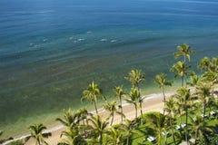 Vista elevata della spiaggia e dell'oceano Fotografia Stock Libera da Diritti