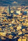 Vista elevata della torre di Agbar fotografie stock libere da diritti