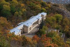 Vista a Elisabeth Academic Gallery em Pyatigorsk, Rússia fotografia de stock royalty free