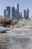 Vista em Abu Dhabi do porto de pesca fotografia de stock