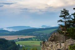 Vista em Adrspach, CZ Foto de Stock Royalty Free