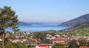 Vista em Arth-Goldau Imagens de Stock Royalty Free
