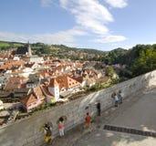 Vista em Cesky Krumlov Fotos de Stock Royalty Free