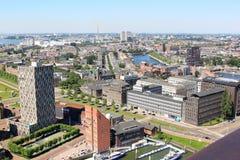 Vista em cima da cidade de Rotterdam, Países Baixos fotografia de stock