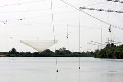 Vista em cima da indústria de pesca italiana, Fiume Piave Fotos de Stock