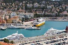 Vista em cima do porto de agradável em França Fotos de Stock