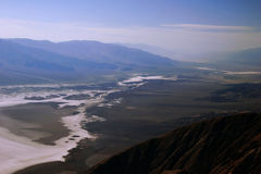 Vista em Death Valley imagens de stock