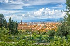 Vista em Florença, Itália - jardins de Bardini Foto de Stock