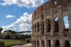 Vista em grande Roman Colosseum, coliseu, Colosseo, igualmente conhecido como Flavian Amphitheatre roma Italy europa imagem de stock