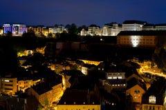 Vista em Grund na noite fotografia de stock royalty free