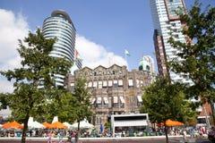 Vista em Holland de construção histórico Amerika Lijn Imagem de Stock