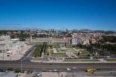 Vista em jeronimos do monastério fotos de stock royalty free