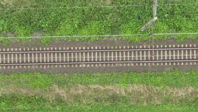 Vista em linhas da trilha railway video estoque