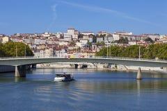 Vista em Lyon e em Saone River foto de stock royalty free