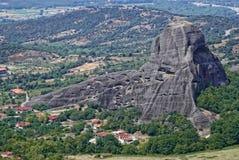 Vista em Meteora em Trikala, Grécia Fotografia de Stock Royalty Free