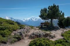 Vista em montanhas Fotografia de Stock Royalty Free