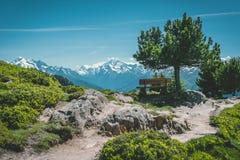 Vista em montanhas imagens de stock