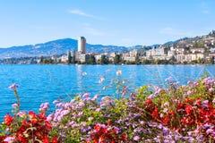 Vista em Montreux Foto de Stock Royalty Free