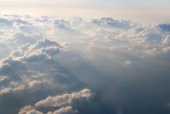 Vista em nuvens Imagens de Stock Royalty Free