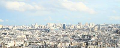 Vista em Paris de Sacre Coeur Fotografia de Stock