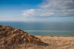 Vista em penhascos de Dôvar, Reino Unido do tampão Blanc Nez, franco Fotografia de Stock Royalty Free