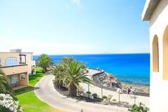 Vista em Playa Blanca Lanzerotte fotografia de stock royalty free