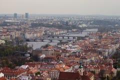 Vista em pontes de Praga Fotografia de Stock