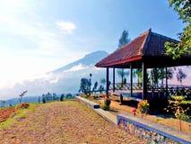 Vista em Posong, Indonésia fotos de stock