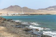 Vista em Puerta de la Cruz no sudoeste de Fuerteventura imagem de stock royalty free