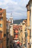 Vista em Rue Rossetti na cidade francesa de agradável imagem de stock