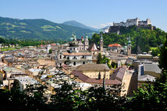 Vista em Salzburg, Áustria Fotografia de Stock