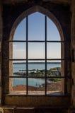 Vista em Sirmione e em lago Garda Fotografia de Stock