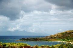 Vista em Skye, Scotland Fotografia de Stock