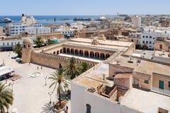 Vista em Sousse, Tunísia foto de stock