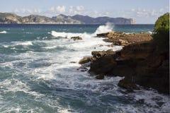 Vista em Tampão de Formentor Majorca Fotos de Stock Royalty Free