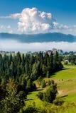 Vista em Tatry de Nowy Targ muito na manhã Fotografia de Stock Royalty Free
