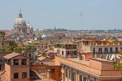 Vista em telhados de Roma. Foto de Stock