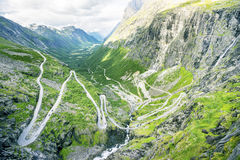Vista em Trollstigen famoso Foto de Stock