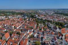 Ideia da zona oriental de Ulm da igreja de Ulm, Alemanha Fotografia de Stock
