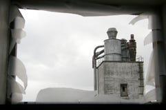 Vista em um edifício velho da indústria Foto de Stock Royalty Free