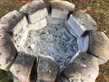 Vista em um poço da queimadura foto de stock