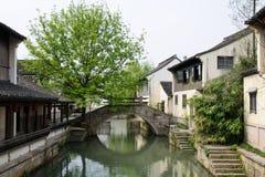 A vista em uma vila tradicional chinesa  imagem de stock royalty free