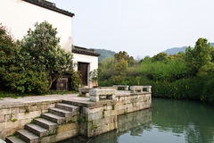 A vista em uma vila tradicional chinesa  imagens de stock