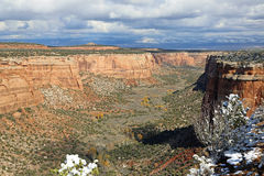 Vista em Ute Canyon Fotos de Stock